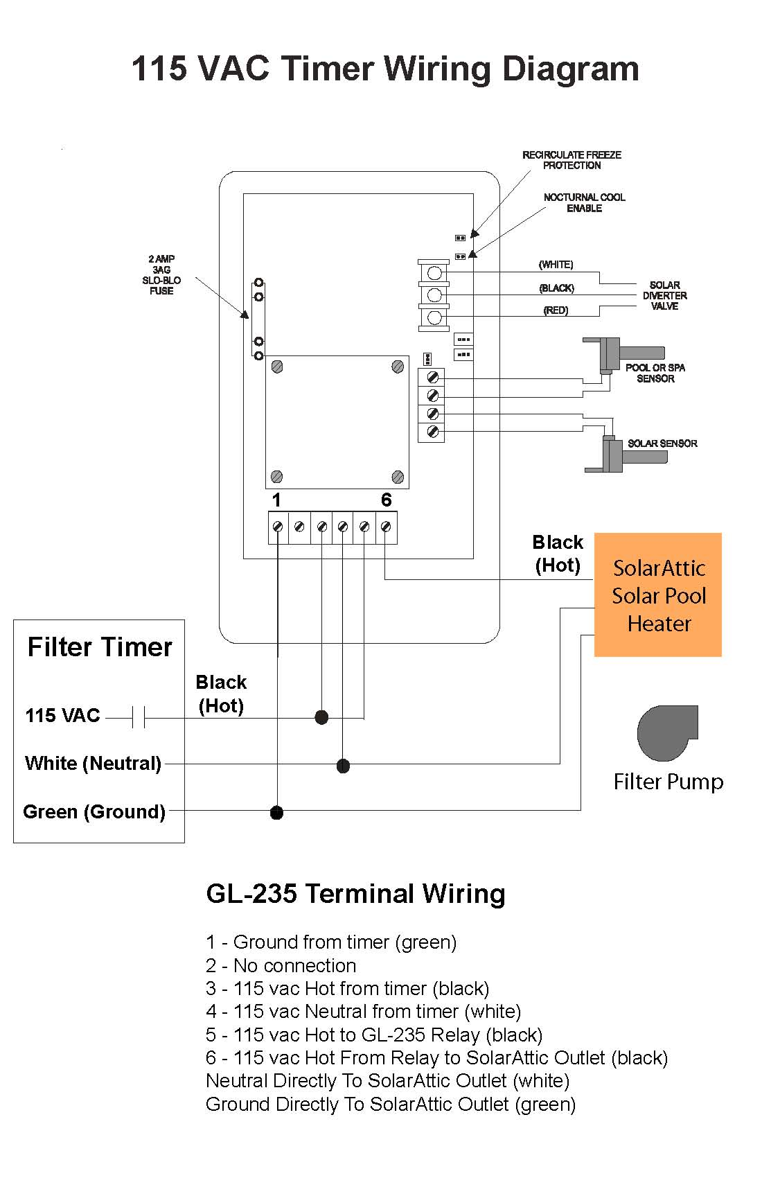 pool timer wiring diagram pool wiring diagrams online 115 vac timer wiring diagram